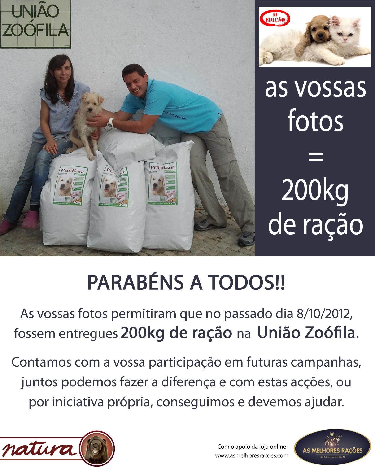Segunda Campanha de Ajuda a União Zoofila